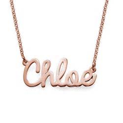 stackable personalized rings cursive name necklace in gold plating mynamenecklace