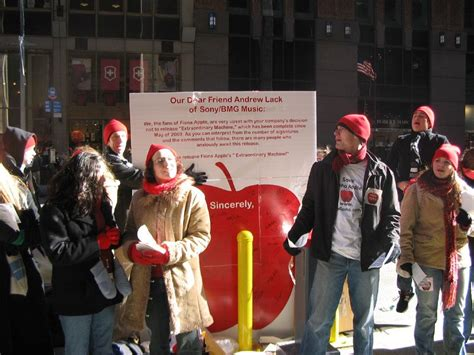 Bmg Nyc by File Free Fiona Protest Outside Sony Bmg Headquarters In
