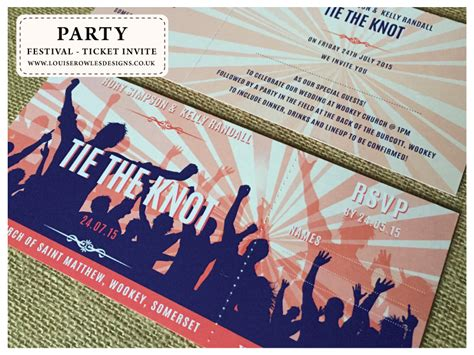 festival ticket collections bespoke wedding stationery