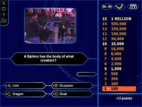 Who Wants Be Millionaire Game