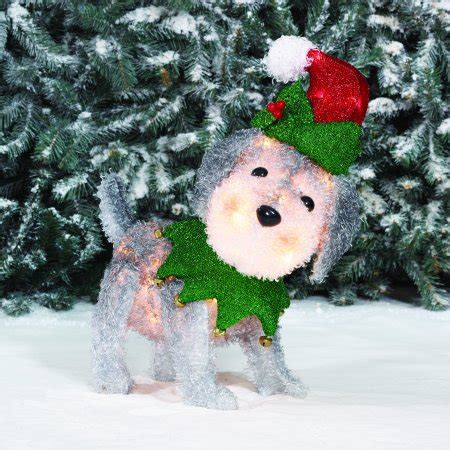 holiday time light  fluffy schnauzer christmas