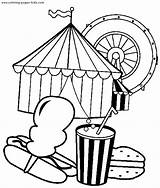 Coloring Pages Circus Preschool Carnival Printables Books Crafts Activities Clowns sketch template