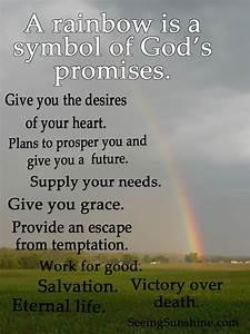 Look at the Rai... Jesus Promise Quotes