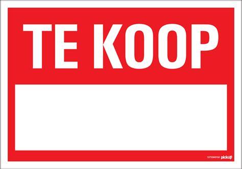 Te Koop Yde by Bordje Pictogram Pickup 23x33cm Hard Kunststof Te Koop