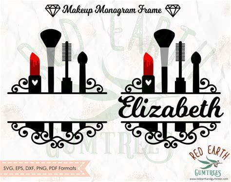 makeup split monogram framemakeup monogram frame svg makeup decal svg glamour decal svg