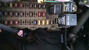 Honda Civic 1996-2000 Fuse Box Location