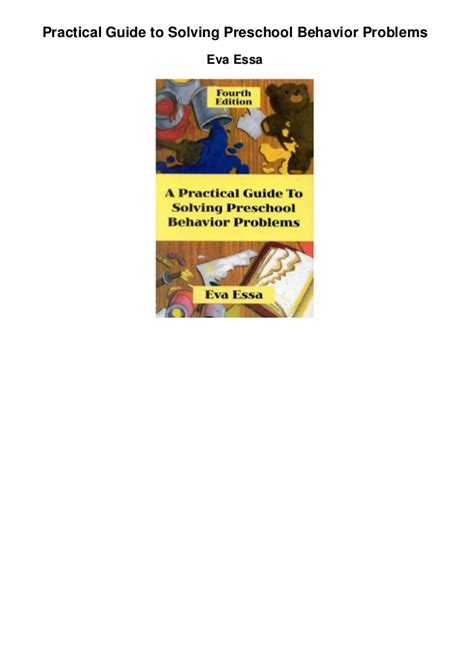 practical guide to solving preschool behavior problems 829 | practical guide to solving preschool behavior problems 1 638