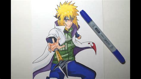 speed drawing minato namikaze hd youtube
