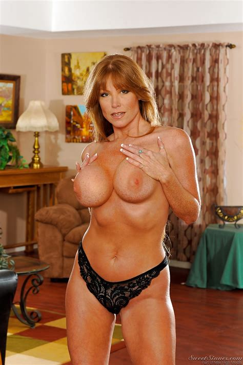 busty milf stunner darla crane strips out of her black