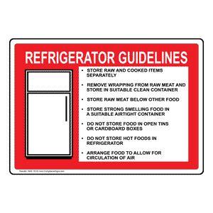 refrigerator guidelines  symbol sign nhe  safe