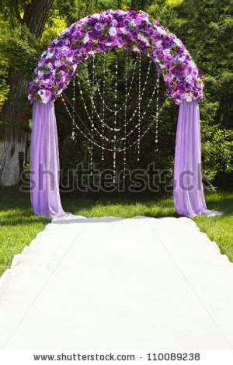 Wedding Arch With Roses Sheer Mesh And Hanging Diamonds