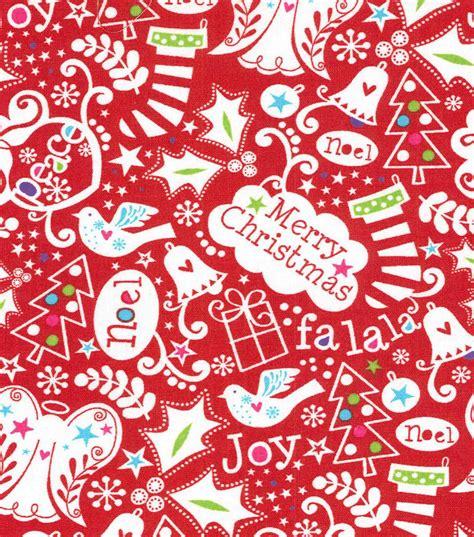 holiday inspirations christmas fabric christmas lyrics red