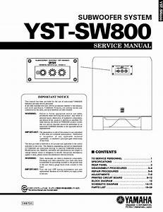 Yamaha Yst Sw800 Subwoofer Service Manual Download  Schematics  Eeprom  Repair Info For