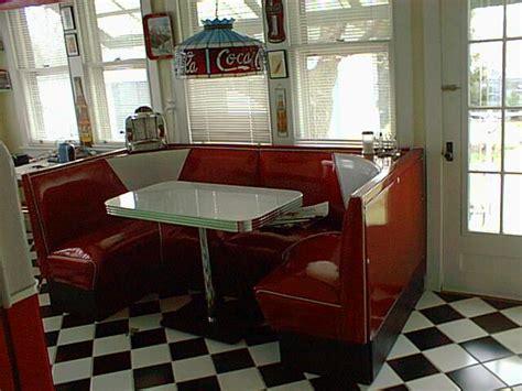 circle booths restaurant diner retro  kitchen