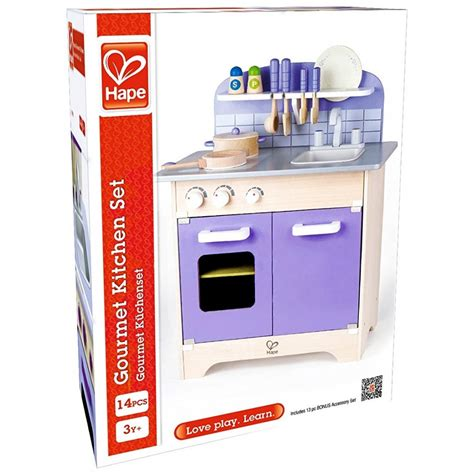 hape white gourmet chef kitchen with accessories top 77 superb toddler kitchen set play food 9231