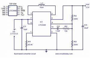 Buck Boost Converter Using Ltc3440 For An Output Voltage