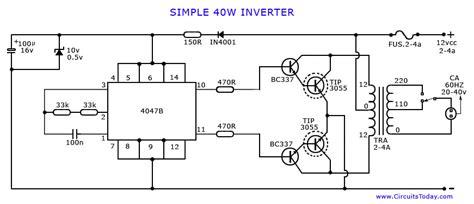 How Make Inverter Simple Watts Circuit