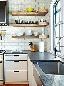 15 beautiful kitchen designs with floating shelves rilane With design your kitchen floating kitchen shelves