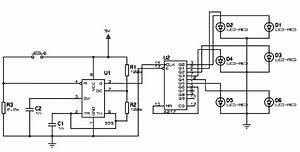 Unbiased Electronic Dice With Leds Using 555 Timer