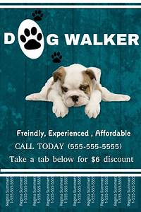 dog walking poster template dog walker template postermywall