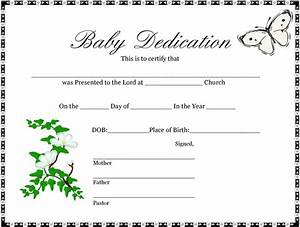 baby dedication certificate 1 professional and high With baby dedication certificates templates