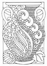 Coloring Pages Adults Adult Deco Vase Printable Patterns Flower Print Colouring Books Simple Flowers Info Everfreecoloring Sheets Pattern Grown Ups sketch template