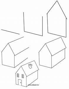 comment dessiner une maison facile With comment dessiner une maison en 3d