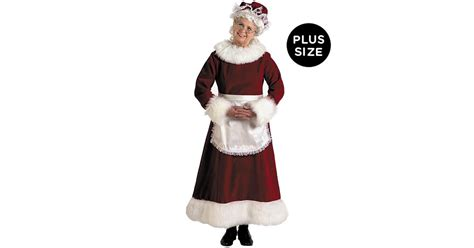 mrs claus dress adult plus costume buycostumes com