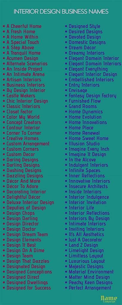 Names Interior Company Catchy Business Decor Decoration