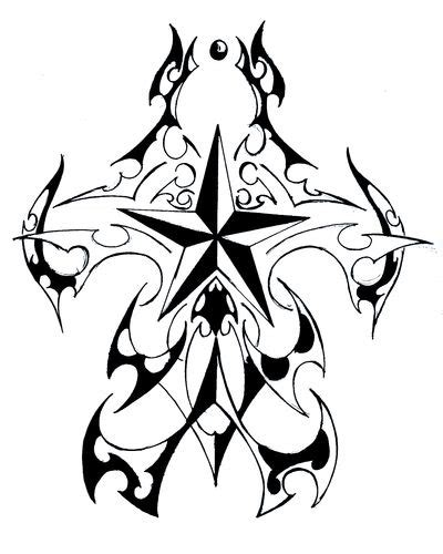 simple star tattoos designs clipart