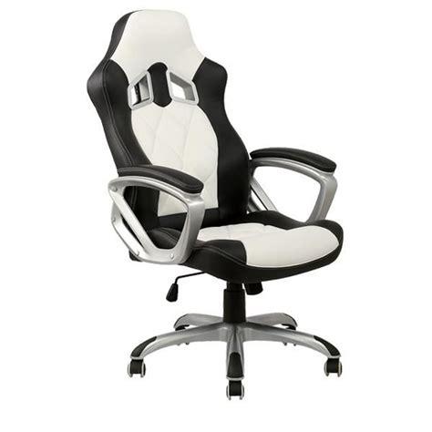 cdiscount fauteuil de bureau chaise de bureau blanche et racing achat vente