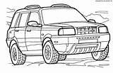 4x4 Rover Coloring Land Coloriage Landrover Range Meilleur Freelander Vehicles Dessin Diagramm Arbeitsblatt Antworten Bathroom Colorier Jeep Haut Transport Colorator sketch template