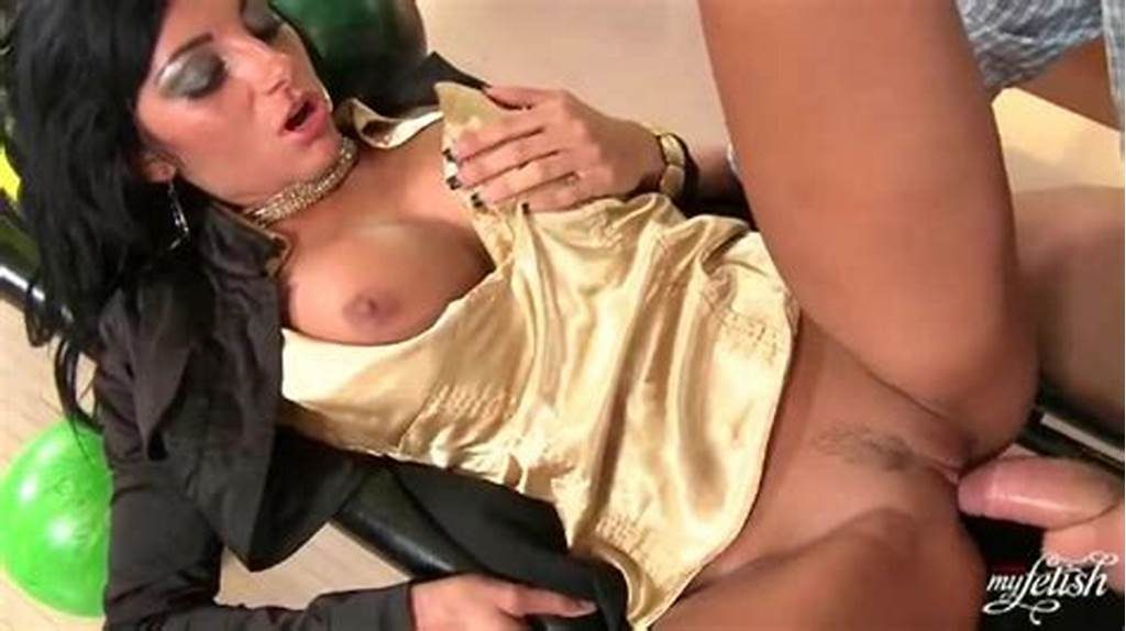 #Slut #In #Gold #Satin #Blouse #Fucked #In #Bowling #Alley