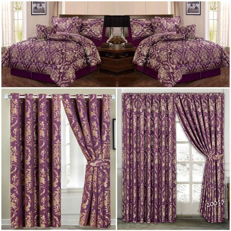 jacquard luxury 7 purple comforter set bedspread