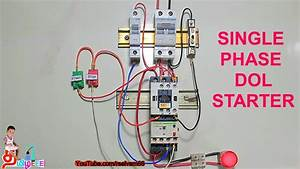 Single Phase Dol Starter  Dol Starter Connection In Tamil