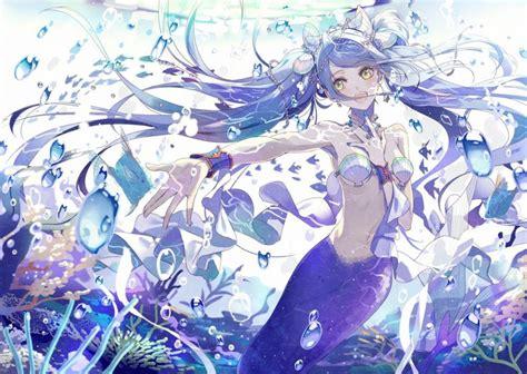 Anime Mermaid Wallpaper - mermaid anime water fish hair wallpaper