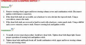 How Do You Remove The Key Switch Ignition Cylinder From A