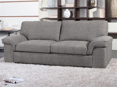canap en tissu gris canapé fixe tissu quot shirley quot 3 places gris 54022 54025