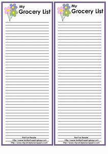 Best Photos of Free Printable Grocery List Template - Free ...