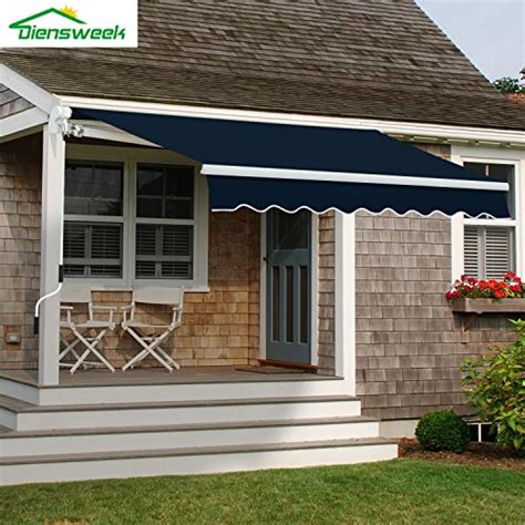 diensweek patio awning retractable manual commercial grade quality   ployester window