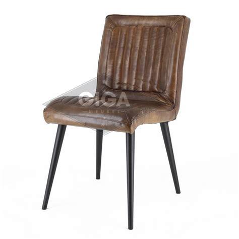 tv stoel leer stoere leren stoelen industrieel nu bj giga meubel