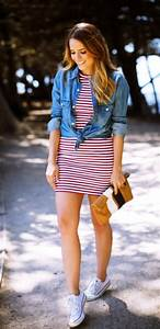 50 Cute Spring Outfits with Sneakers 2018 - Fashiondioxide