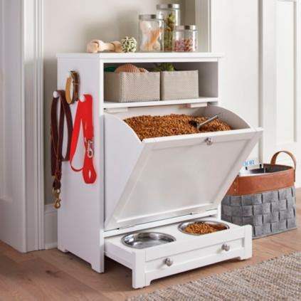 Pet Food Cabinet With Bowls by Pet Feeder Station Grandin Road