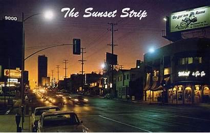 Sunset Strip Hollywood 1960s California Blvd Street