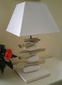 Lampe Chevet Bois Flotté : lampe bois flott et galets photo de lampes la belle au bois flotte ~ Melissatoandfro.com Idées de Décoration