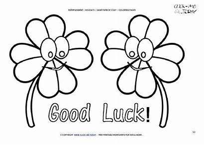 Luck Coloring Pages St Lucky Leaf Bear