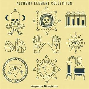Alchemy symbols collection Vector | Free Download