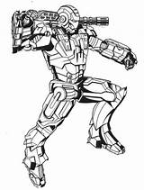 Coloring Pages Avengers Iron Ironman sketch template