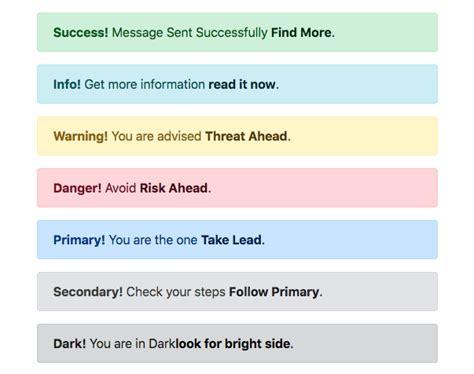 alert colors bootstrap 4 alert colors exle