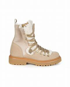 John Varvatos Size Chart Moncler Berenice Women 39 S Shearling Ankle Boots Beige
